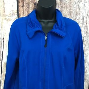 Tangerine Athletic Zip Front Jacket Medium